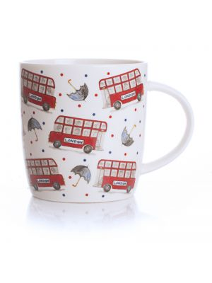 Celebrating Britain London Bus & Umbrella Mug