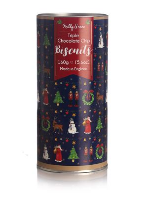 Merry Little Christmas Cylinder of Triple Chocolate Biscuits