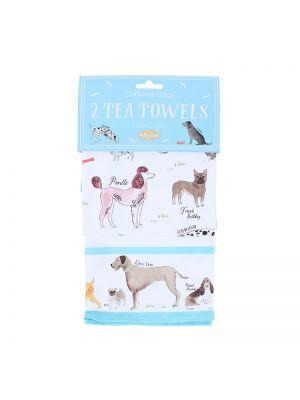 Debonair Dogs Tea Towels Set of 2