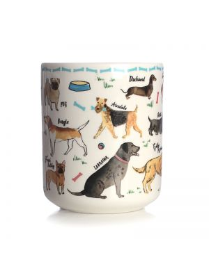 Debonair Dogs Ceramic Pen Pot
