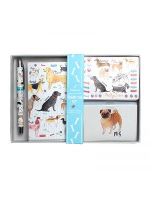 Debonair Dogs Thank you Writing Gift Set