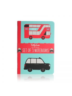 London Adventures Notebooks A6 Set of 3