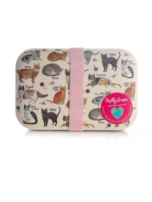 Curious Cats Lunch Box Eco Bamboo Fibre