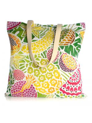Tropical Fruit Large Canvas Shopper