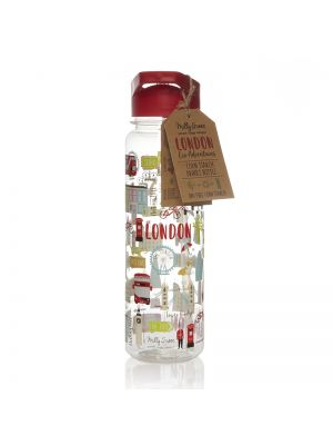 London Eco Adventures 750ml reusable water bottle made from Cornstarch (PLA) and BPA free.