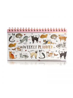 Curious Cats Hardback Spiral Weekly Planner