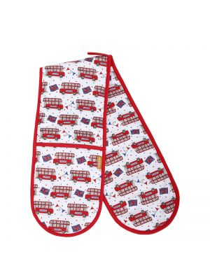 London Bus Double Oven Gloves