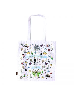 Royal Wedding Canvas Shopper