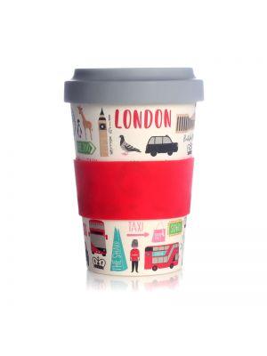 London Adventures Travel Mug Eco Bamboo 17oz