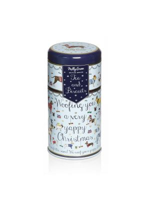 Yappy Christmas Duo Tin of Tea and Biscuits