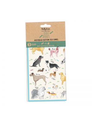 Debonair Dogs Tea Towels Set of 2 - 100% Recycled Cotton